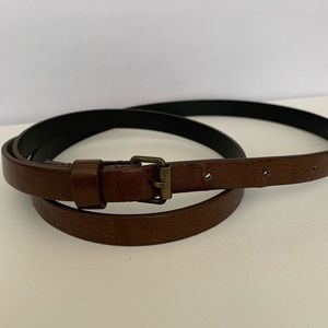 Brown skinny belt
